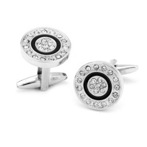 Factory price customized cufflinks in gift box for men cufflinks and tie clip set