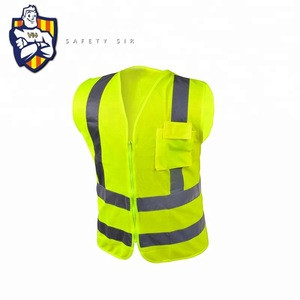 Hi Vis Safety Vest Security Uniform Reflective Clothing