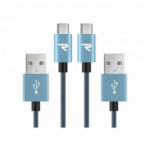 High Speed Custom China Mobile USB Data Cable 1M/2M Nylon Braided Charging Cords for Android Micro Data Cable USB