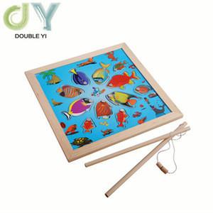 Hot sale magnetic Fishing Toys , kids wooden fishing set toys