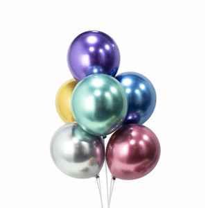 Hot sale  Pearl Color 11 Inch Solid Chrome Latex Balloon For Party Decorations