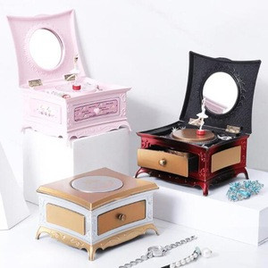 Jewelry Music Box with a Dancing Ballerina Inside