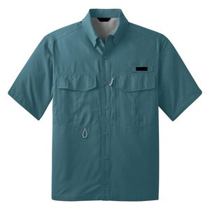 Lightweight breathable Polyester Fast Dry Fishing Shirt Men