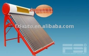 Medium-Pressurized Coiling Copper Finned Tube Solar Water Heater