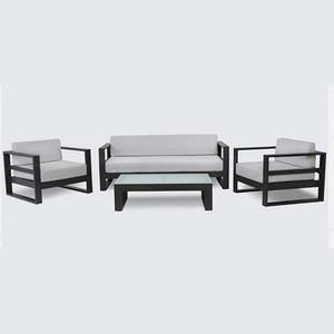 Outdoor corner waterproof sectional sofa UV protection aluminum garden sofa