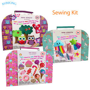 SEWING KIT FOR KIDS, Unicorns DIY craft for girls, The Most Wide-Ranging Kids Sewing Kit With Over 110 Kids Sewing Supplies