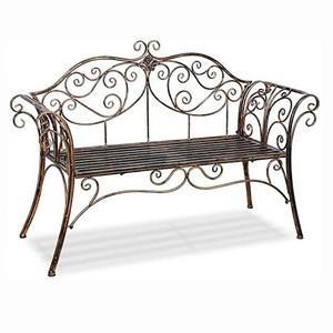 Wholesale Durable Antique Bronze Decorative Outdoor Garden Patio Furniture Metal Scroll Bench