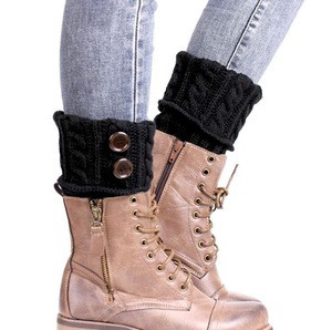 Woman New Design Cable Knitted Boot Cuffs, Woman Ruffled Knitted Leg Warmer, Loom Knitting Leg Warmer