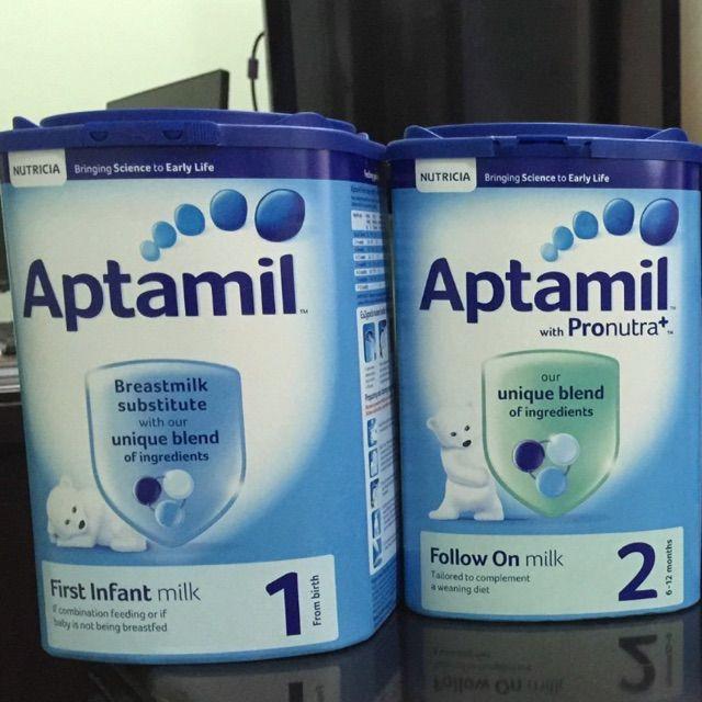 Aptamil Pre, 1, 2 & 3