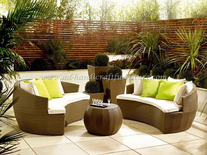 Poly rattan sofa set -003