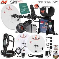 Minelab GPX 5000 Gold Detector Summer Special with 3 Search Coils and Extras