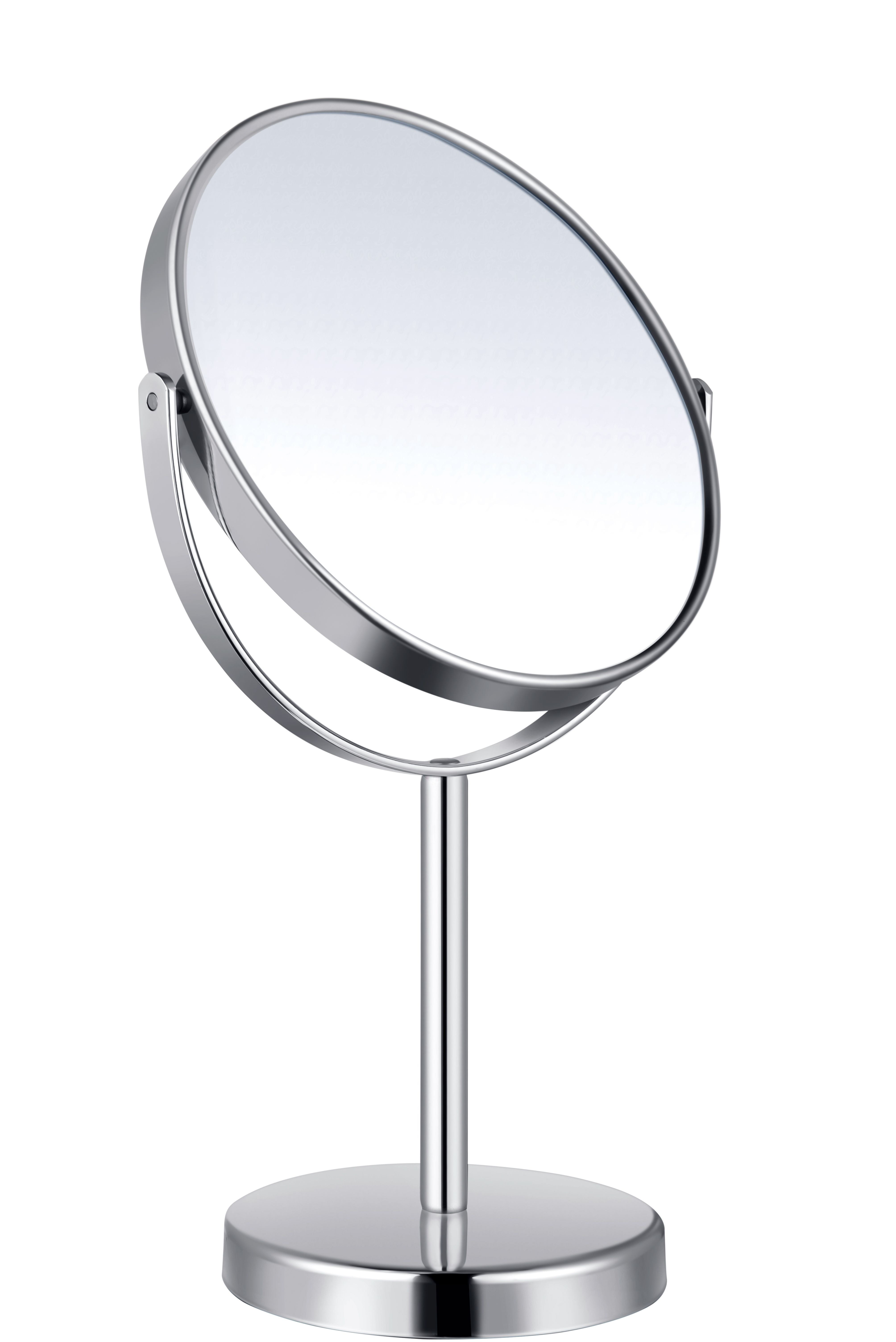 Stainless steel make-up mirror