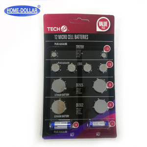 12 Sr626W/LR44/CR2025/CR2032/A23/A27 micro lithium button cell batteries
