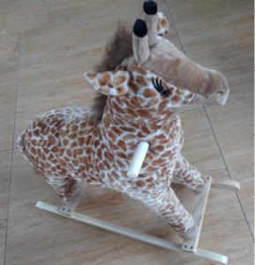2019 Popular Kids Gifts  Cute Plush Animal Wooden Rocking Horse Toys