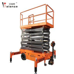 6m Repairing job Supermarket use Light installation Electric Lifting mobile scissor hydraulic Aerial Lift Platform
