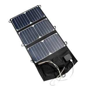 BUHESHUI 21W Foldable Solar Panel Charger For iphone Solar Battery Charger Dual USB Sunpower Panel High Quality