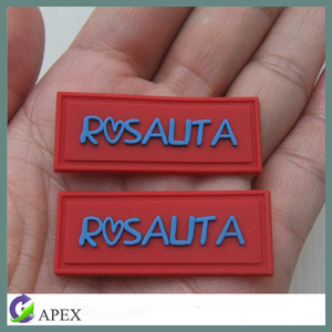 Custom Logo Trademark Silicone Rubber Label Pvc Label