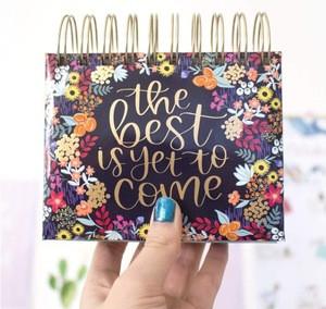 "Custom printing bloom daily planners Undated Perpetual Desk Easel/Inspirational Standing Flip Calendar - (5.25"" x 5.5"")"