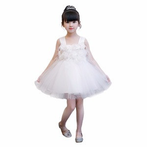 High Quality Handmade Flower New Model Girl Dress With Strap