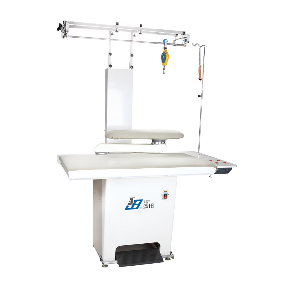 Holey sponge garment vacuum ironing table suitable for various kind of garment and washing industry Clothes ironing machine