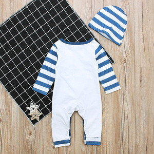 Hot sale new baby romper with hat long sleeve baby boy girl clothes newborn clothing casual baby girl clothing infant suit