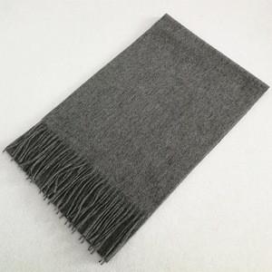 IMF Men Soft Cashmere Wool Wraps Plain Color Scarf