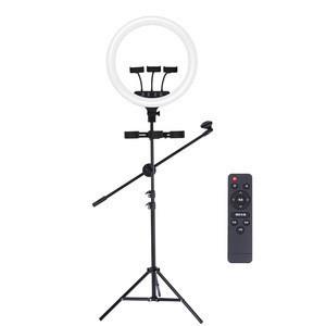 JOYROOM live streaming youtube video cell mobile phone holder tik tok stand tripod circle tiktok 18 inch led selfie ring light