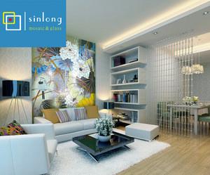 Latest design flower mosaic pattern for Interior floor decoration
