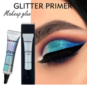 New professional invisible make up base oil free long -lasting glitter eyeshadow primer