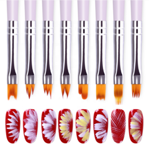 Professional Flower Pen Colored Drawing Line Pen Brush Nail Art Brushes Set