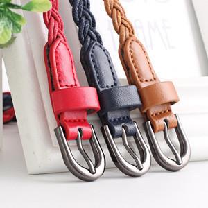 Retro Womens Weave Waist Belt Fashion Dress Hand-made Knitting Lady Pin Buckle Belt