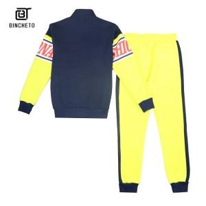Zipper Up Men Track Jacket Set Customized Print Tracksuits Fashionable Sport Jogger Active Wear Men