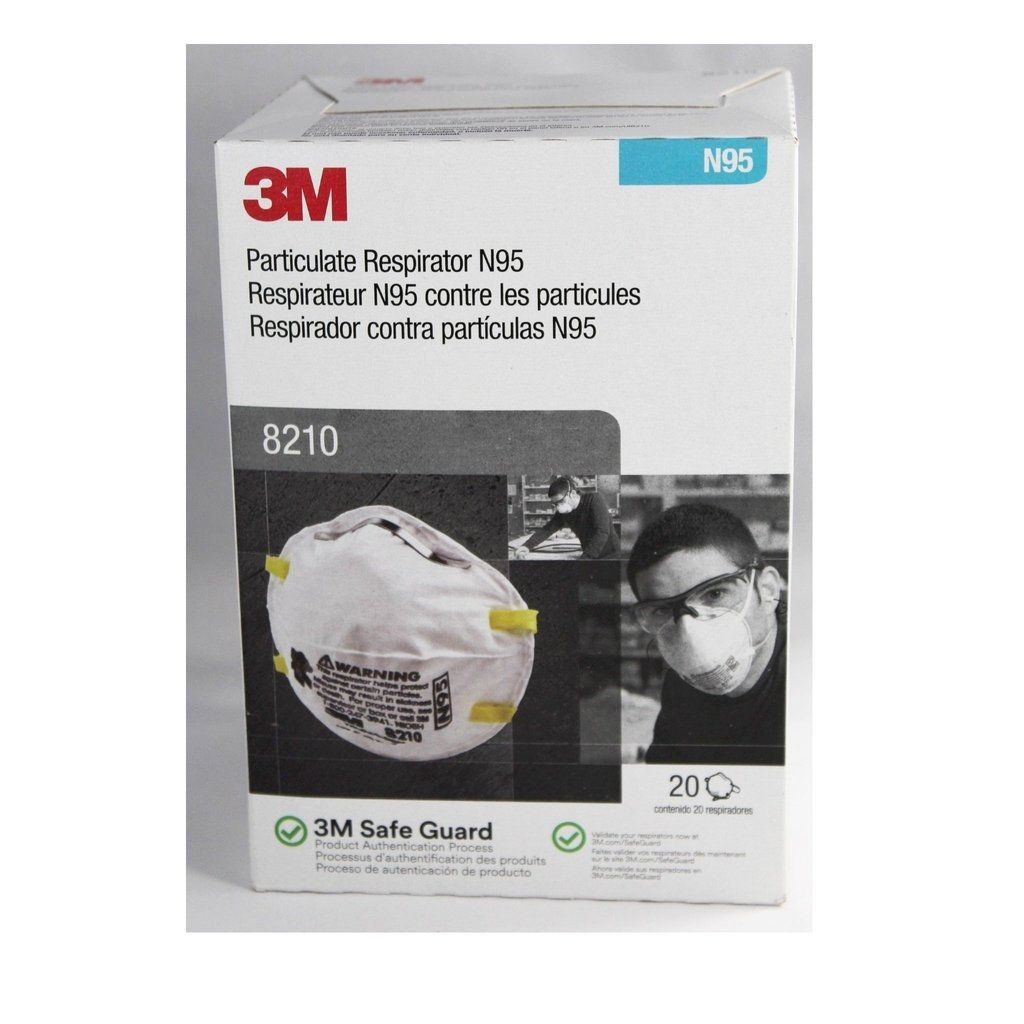 3M 8210,1860 N95 and 3PLY FACE MASK and Powder free nitrile gloves