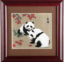 Sichuan Brocade Panda Photo Frame S-502