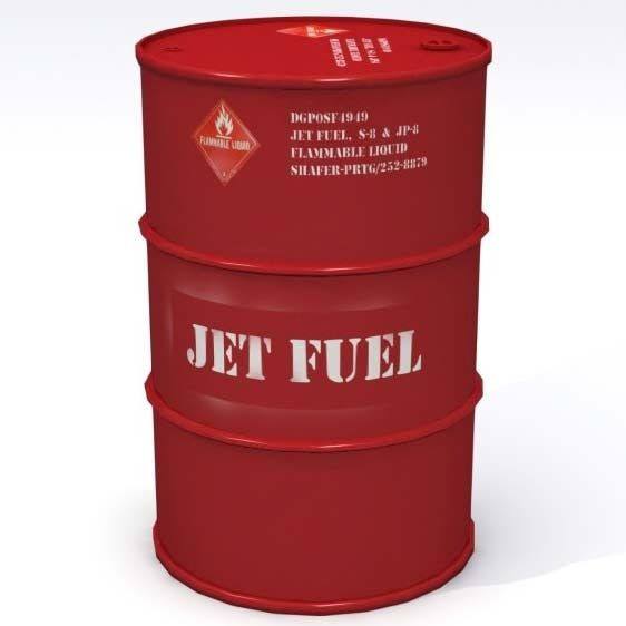 Crude oil, Jet fuel, JP54. Kerosene. Etc.