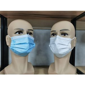 Disposable Protective Face Mask (Blue & White)