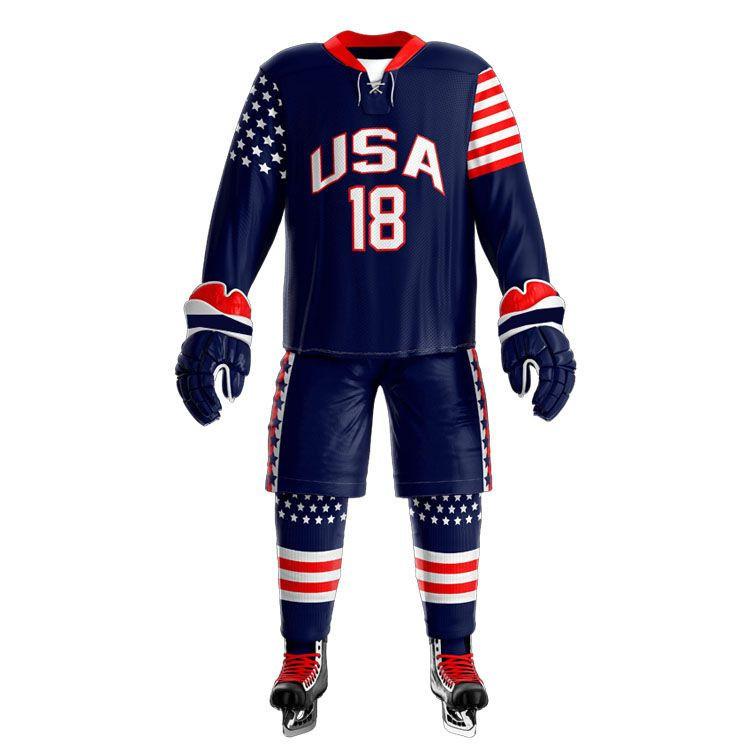 Sublimation ice hockey jersey custom made