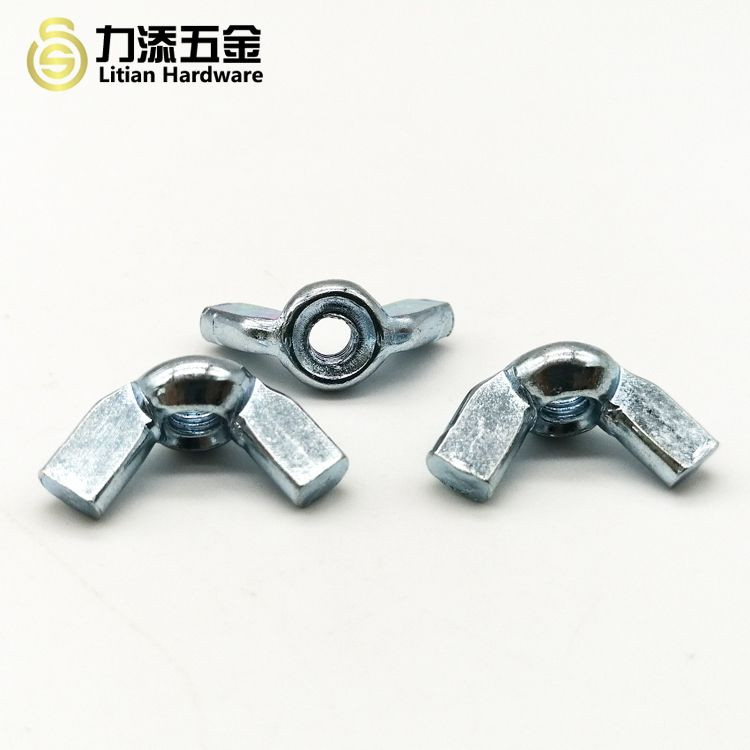 DIN 315 zinc plated wing butterfly nuts M2.5 M3 M4 M5 M6 M8 M10 M12