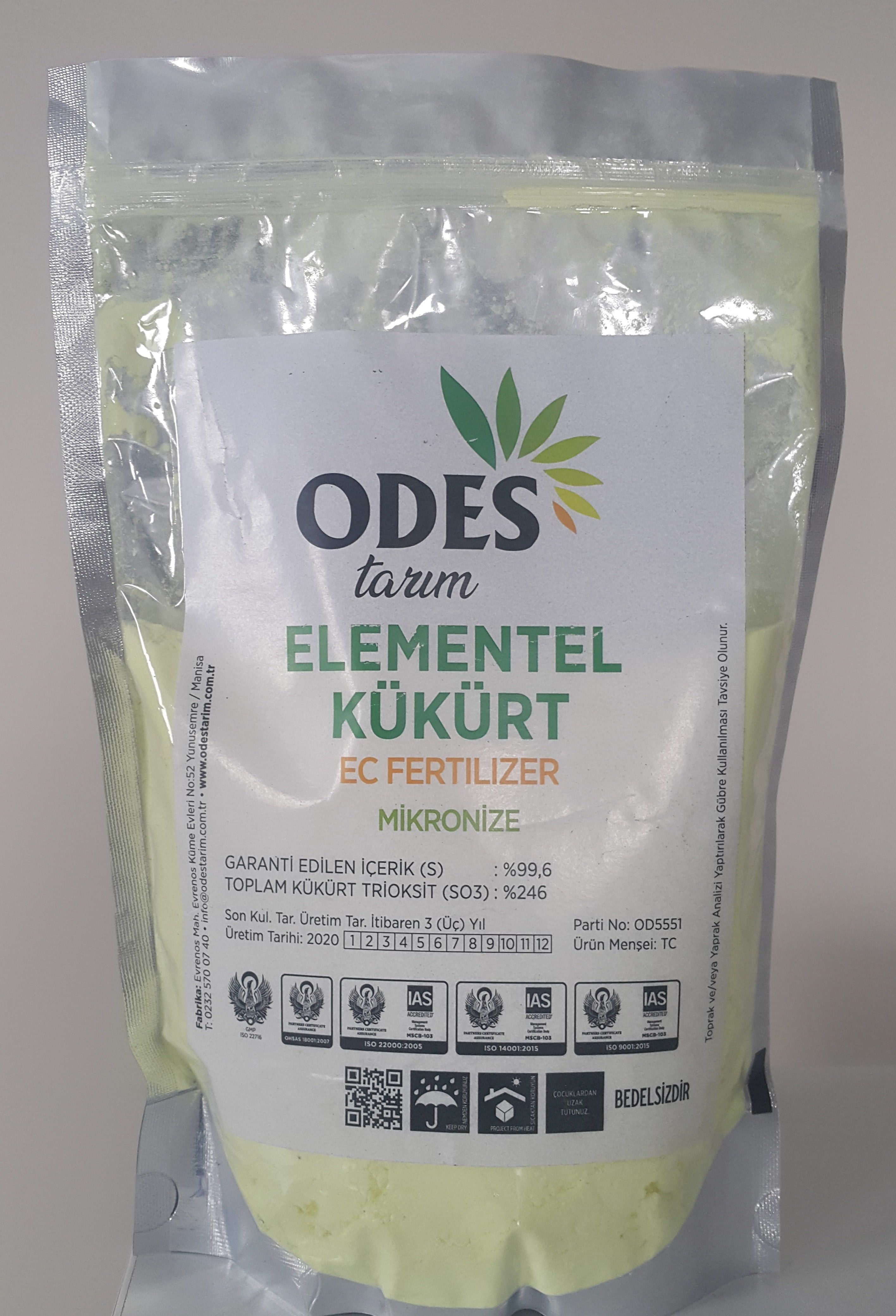 Odes micronized sulfur