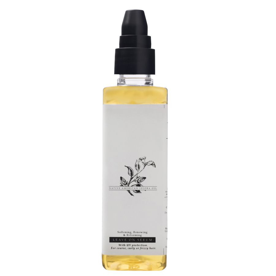 Timeless Beauty Secrets Organic Jojoba Oil Softening, Hair Serum with UV protection for Frizzy, Coarse, Curly Hair