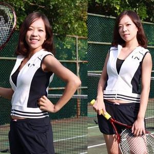 100% cotton hoodie sleeveless shorts women tennis wear