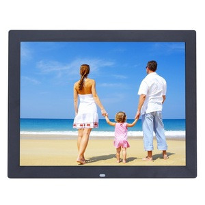 15 inch HD LED Screen Digital Photo Frame with Holder & Remote Control, Allwinner, Alarm Clock / MP3 / MP4 / Movie Player(Black)
