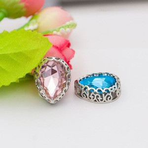 27 colors Tear Drop Colorful Crystal Glass Fancy Stones with Nest Claw Sew on Beads clothing garment accessories