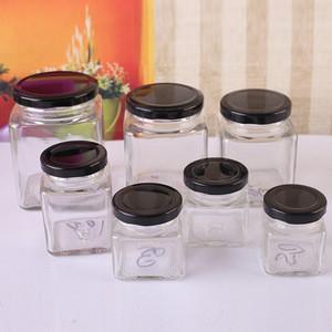 50-730ml square glass honey jar sealed jam fermented bean curd jar