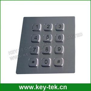 Explosionproof industrial numeric stainless steel keypad