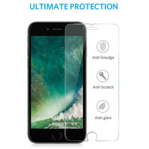 Factory Wholesale 9H 2.5D 3D High Clear Tempered Glass Screen Protector for iPhone 8/7/6 Plus