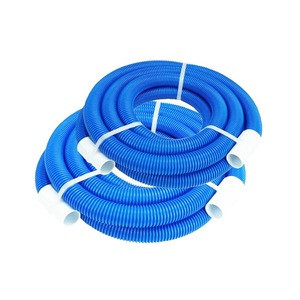 Hose manufacturer 1.5inch 2inch flexible corrugated plastic EVA PE swimming pool cleaner suction pipe hose with cuffs