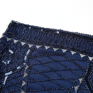 Knee Length Bodycon side zipper Skirt ladies sequin mini short glitter skirt