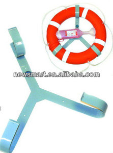 Life Buoy with rack & life linebox | inflating Life Buoy