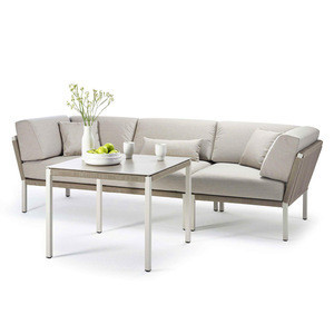 Modern Outdoor Patio Sets Aluminium Rope Luxury Furniture Sofa Chairs Garden Furniture